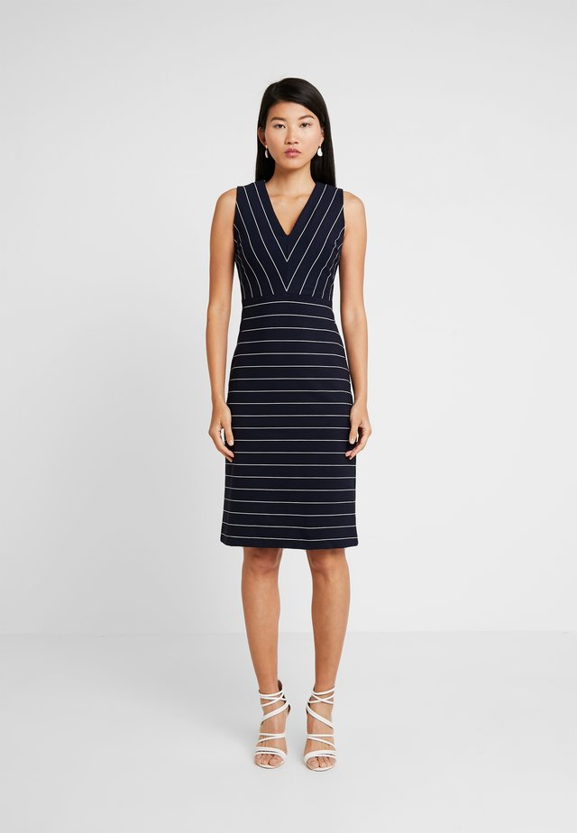 SHEATH STRIPE - Jersey dress - white/navy