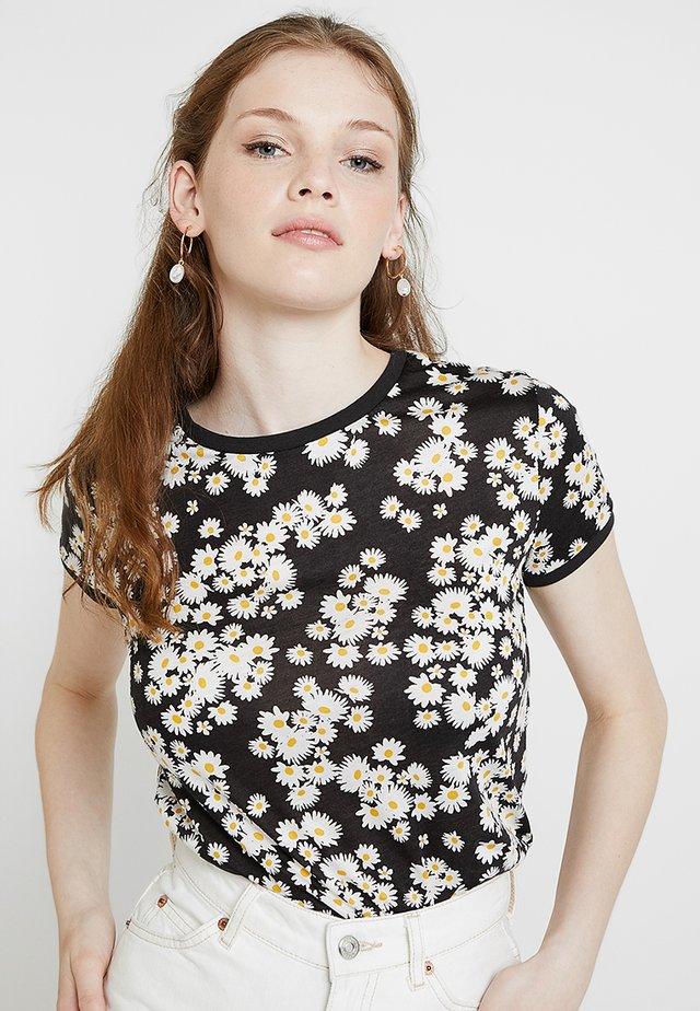 DAISY RINGER - Print T-shirt - black