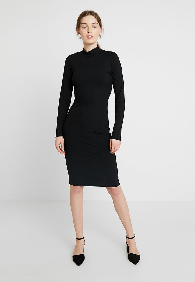HIGH NECK BODYCON - Etui-jurk - black