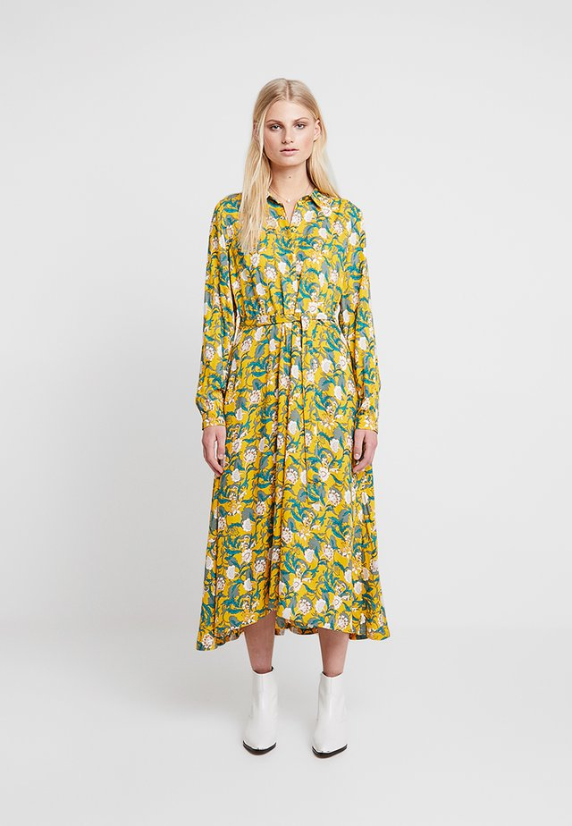 KABELLA DRESS - Długa sukienka - old gold