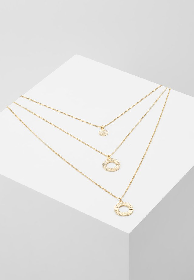 PCTANA COMBI NECKLACE - Necklace - gold-coloured