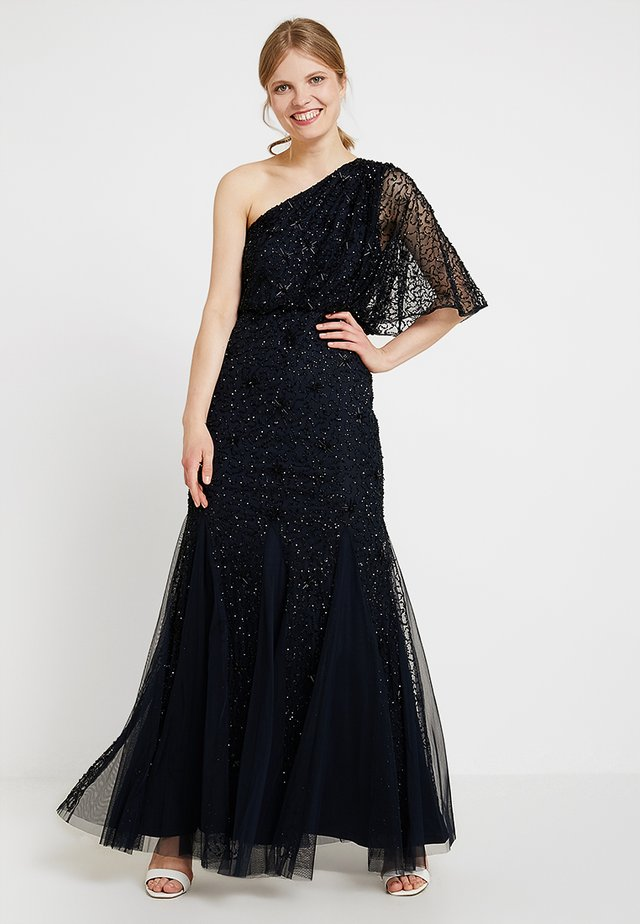 BEADED LONG DRESS - Galajurk - midnight/black