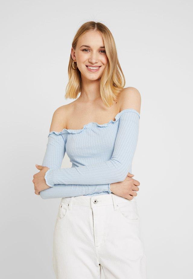 LETTUCE EDGE BARDOT BODY  - T-shirt à manches longues - mid blue