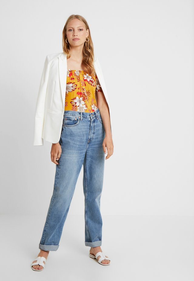 BUTTON THROUGH MILKMAID TROPICAL - Print T-shirt - ochre