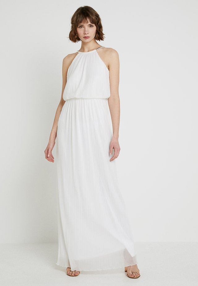 LONG DRESS WITH CHAIN - Occasion wear - cream