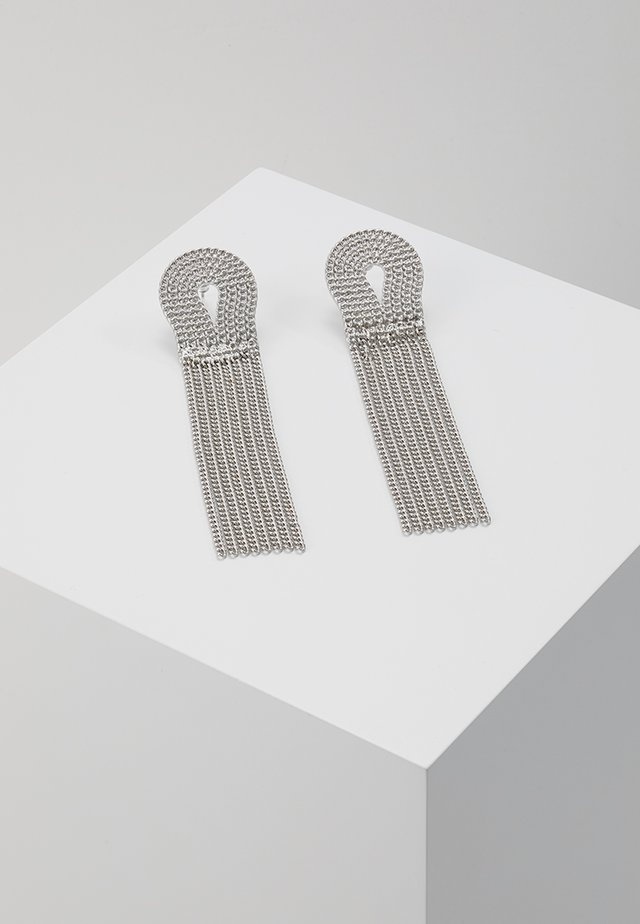 ROPE CHAIN DROP EARRING - Earrings - antique silver-coloured