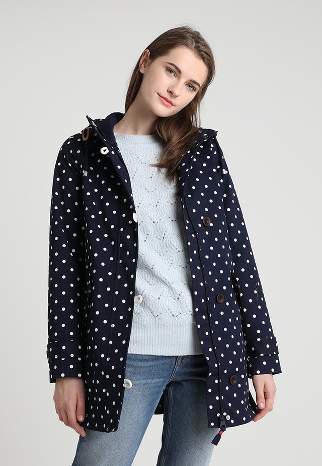 COASTMID PRINT - Cappotto corto - dark blue