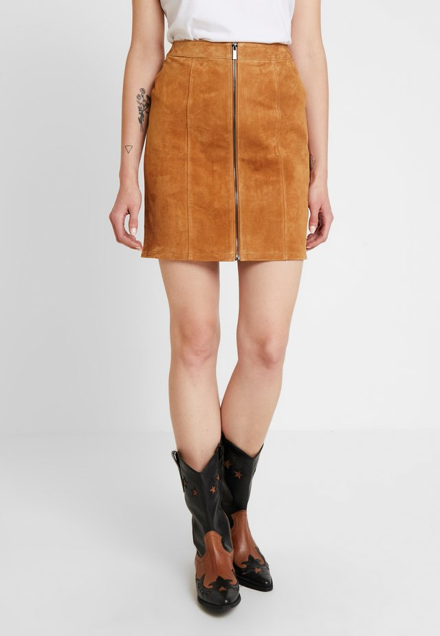 VIGURLI SKIRT - Pencil skirt - dusty camel