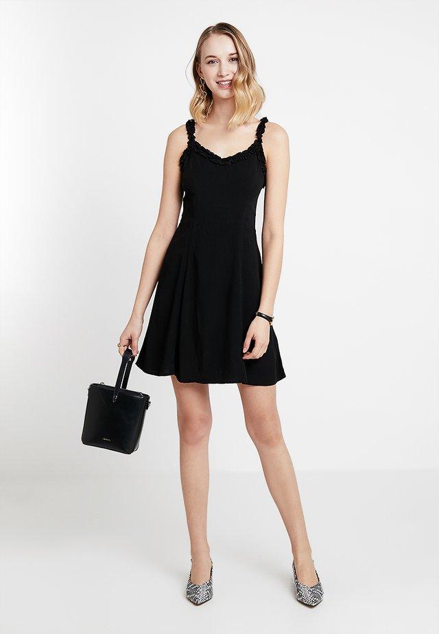 RUFFLE EDGE SUNDRESS - Sukienka letnia - black