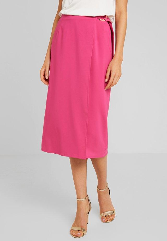 CAMEO SKIRT - Wrap skirt - magenta
