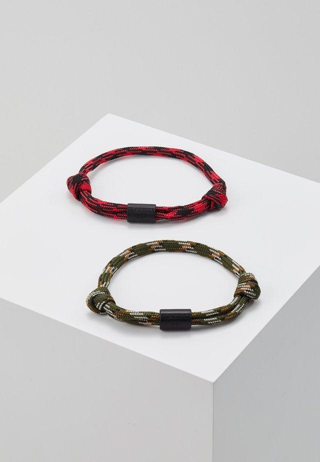 YACHT HARBOUR BRACELET - Pulsera - khaki/red