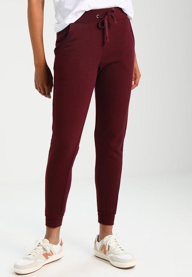 BASIC BASIC  - Pantalones deportivos - dark burgundy
