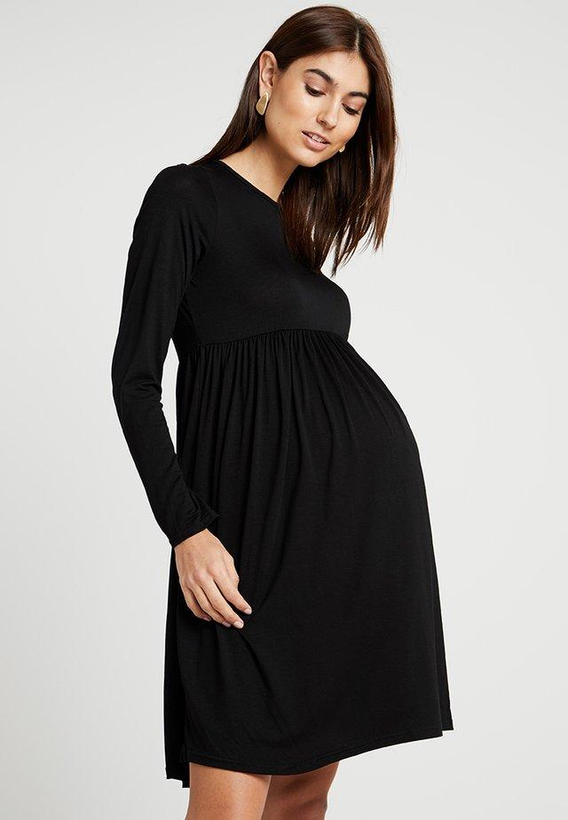 MATERNITY PLAIN SMOCK - Jerseyklänning - black