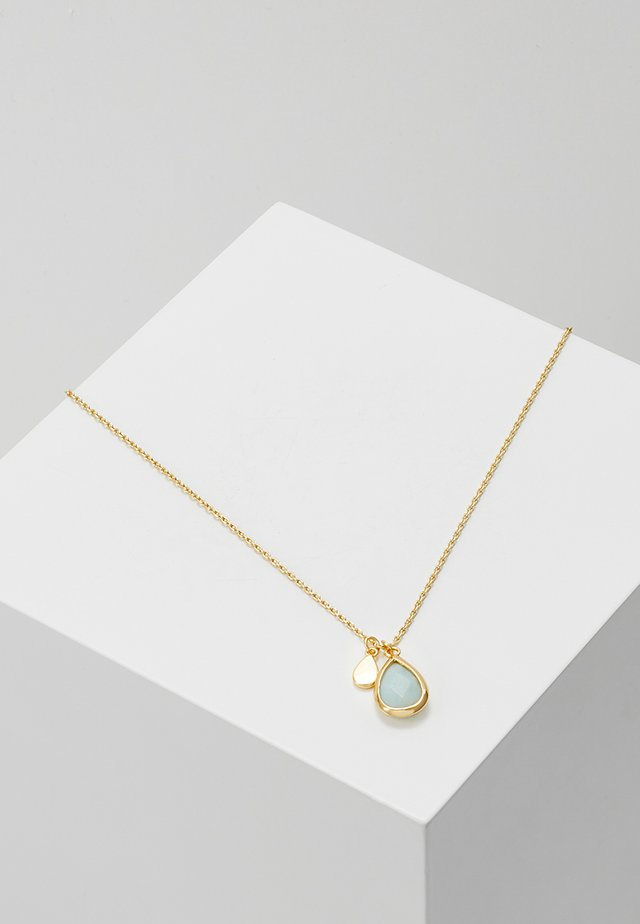 TEARDROP DITSY NECKLACE - Halsband - pale gold-coloured