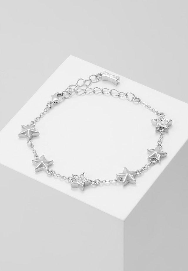 SHAENA PAVÉ SHOOTING STAR CLUSTER BRACELET - Bracelet - silver-coloured