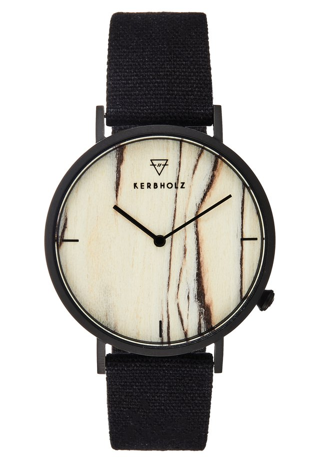 HENRI - Montre - black/brichwood/black