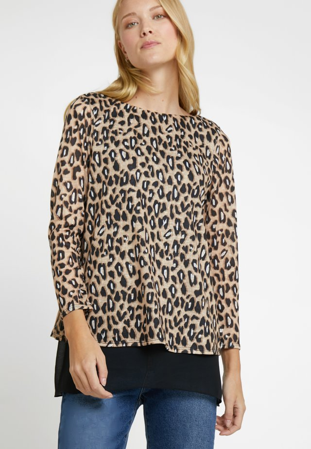 LEOPARD 2IN1 - Jumper - black