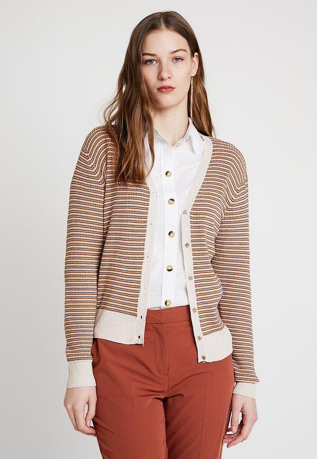 STRIPE V NECK - Cardigan - multi-coloured