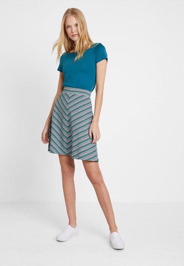 SKIRT EASY - A-line skirt - black/grey