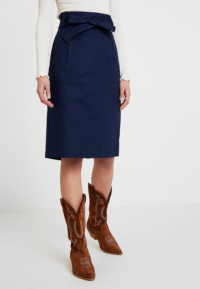 BASIC - Pencil skirt - peacoat
