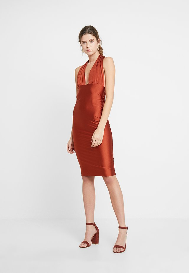 CALLA - Shift dress - bronze