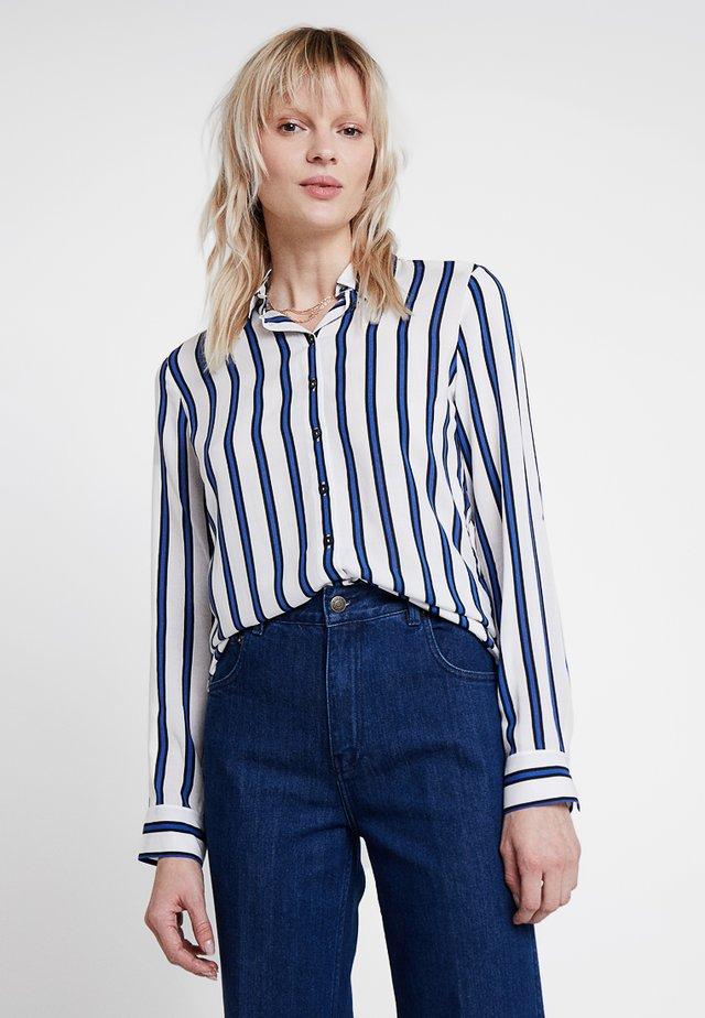 Button-down blouse - true blue