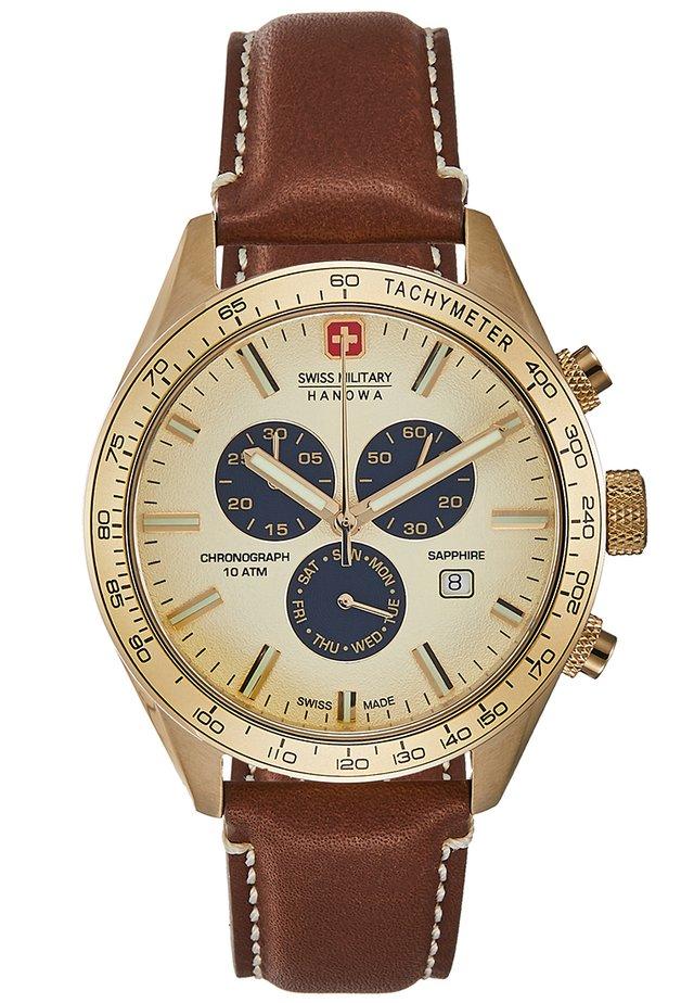 PHANTOM - Chronograph watch - cognac/gold-coloured
