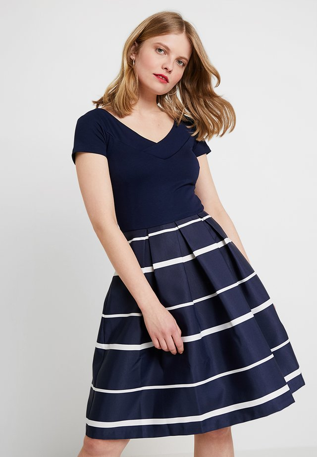 Cocktailkleid/festliches Kleid - dark blue/white