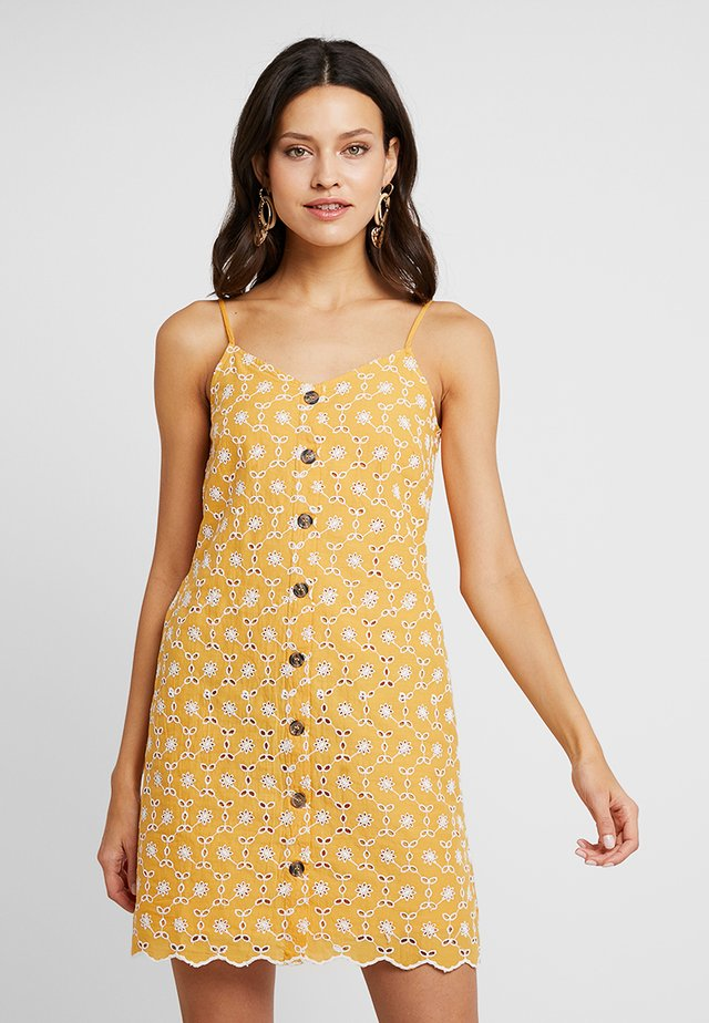 ALL OVER BRODERIE CAMI DRESS - Abito a camicia - light yellow