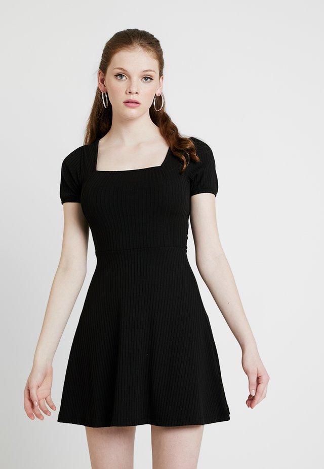 SKATER - Jerseykleid - black