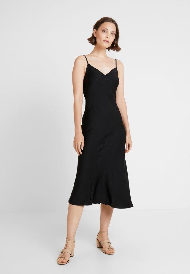 BLISS SLIP DRESS - Maxikjole - black