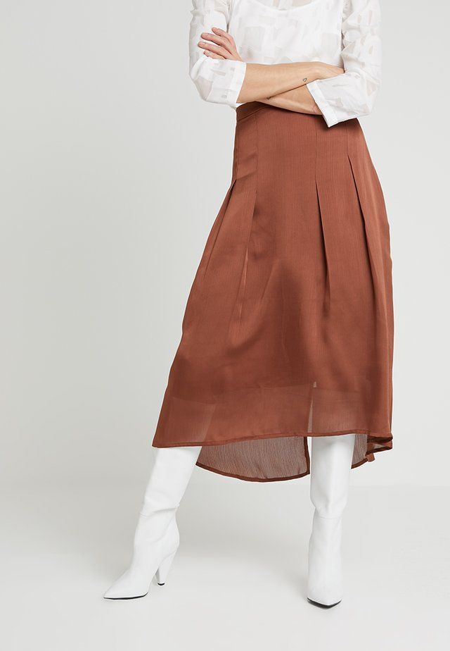 SOFIA SKIRT - Pleated skirt - toffe brown