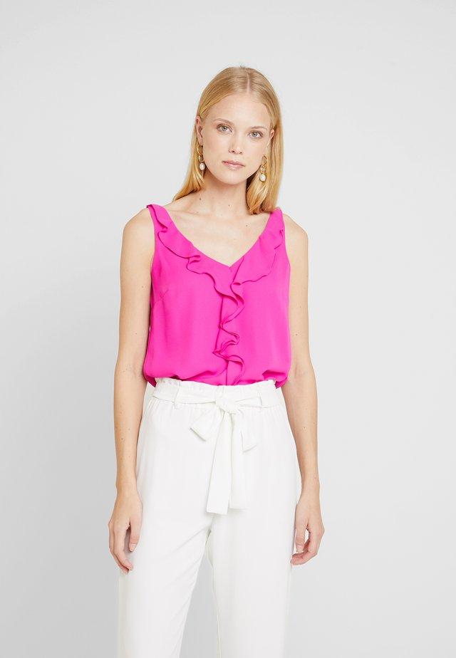 RUFFLE CAMI - Bluse - pink