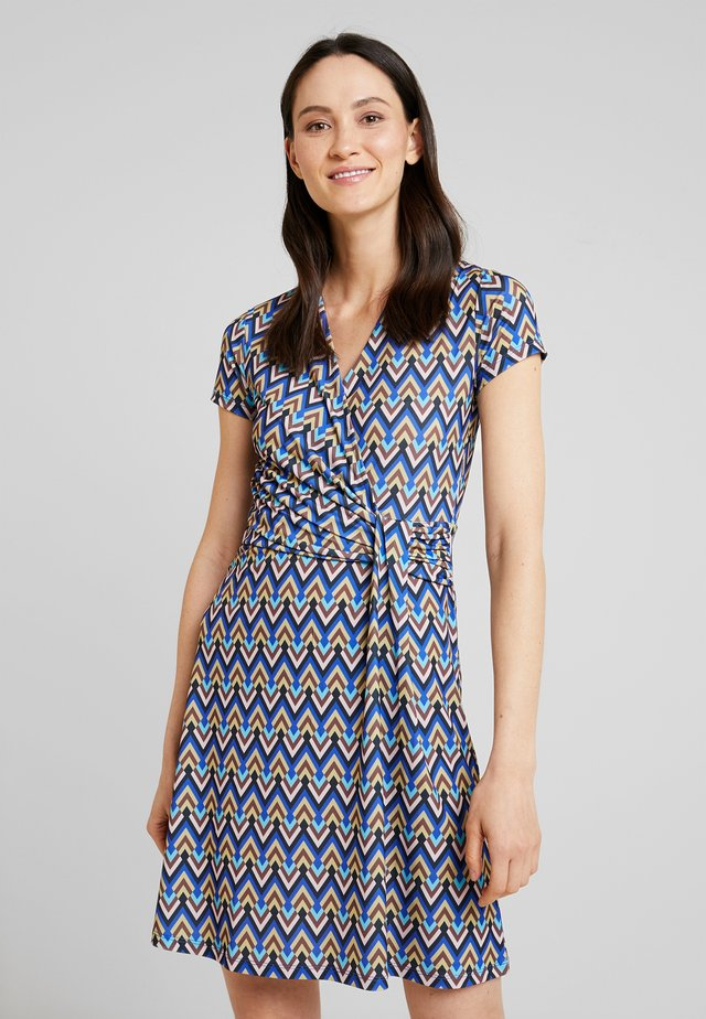 Jersey dress - multicolored/blue