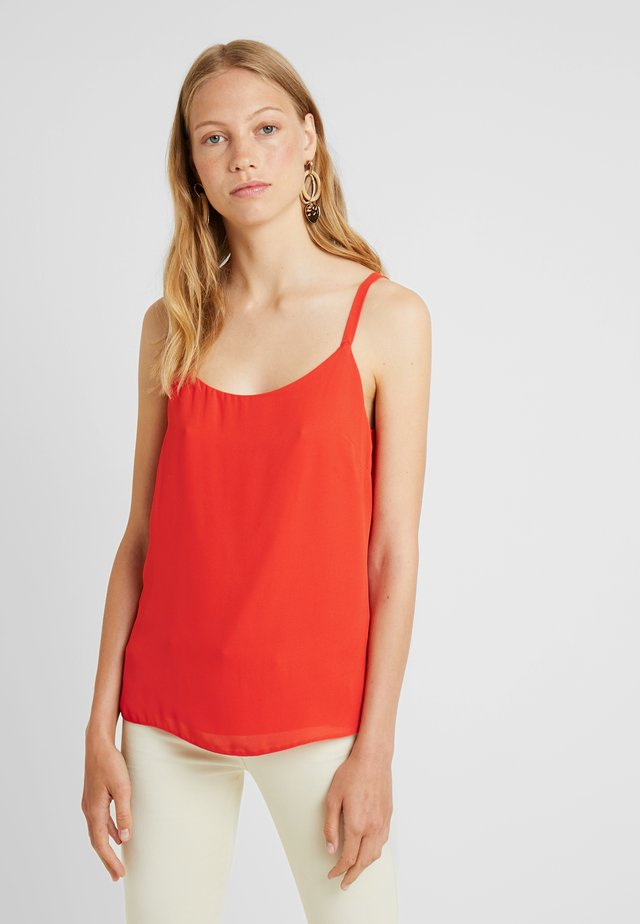 SCOOP CAMI - Topper - red