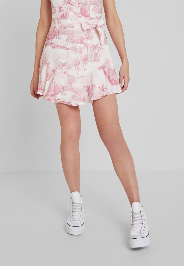 TINA BLEND FLIPPY SKIRT - A-line skirt - light pink