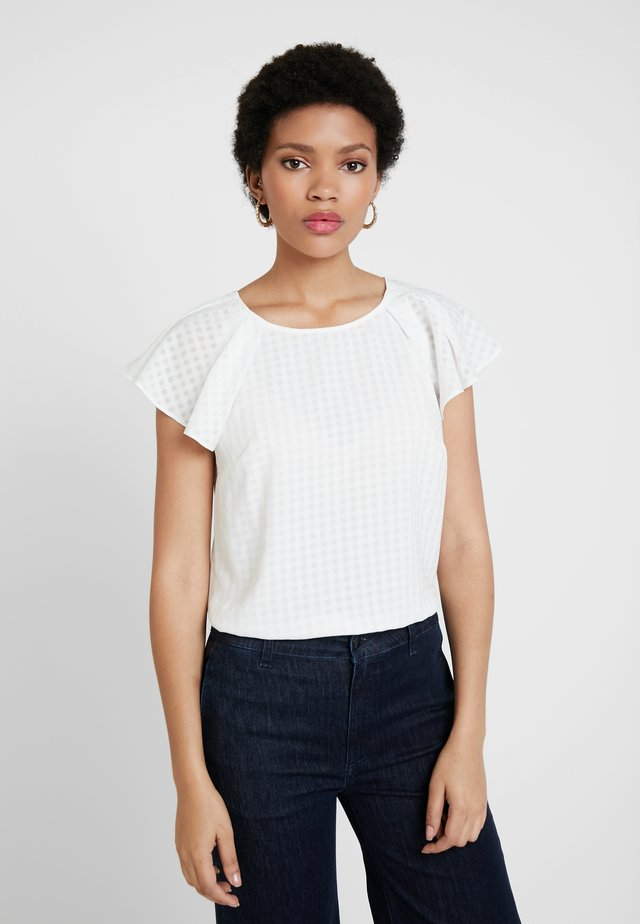 CHECK - Blouse - ivory