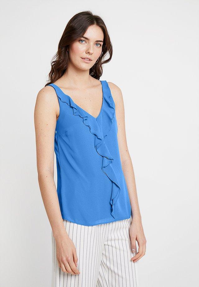 RUFFLE CAMI - Bluser - blue