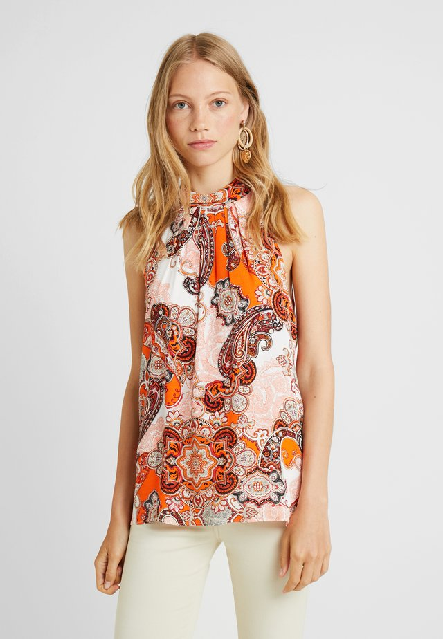 DREAM PAISLEY HALTER NECK - Blouse - orange