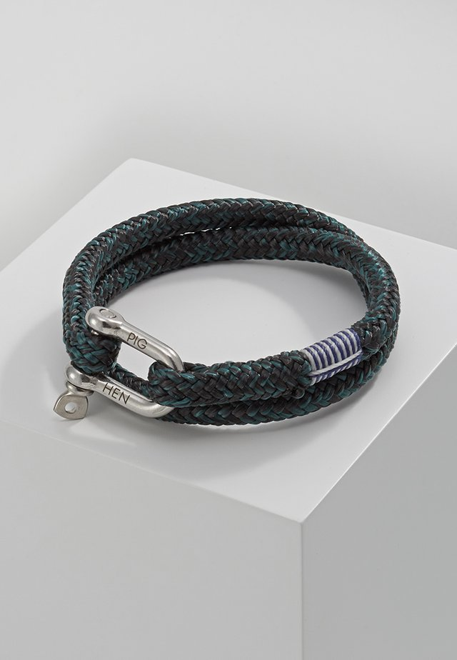 SALTY STEVE - Bracelet - black/petrol