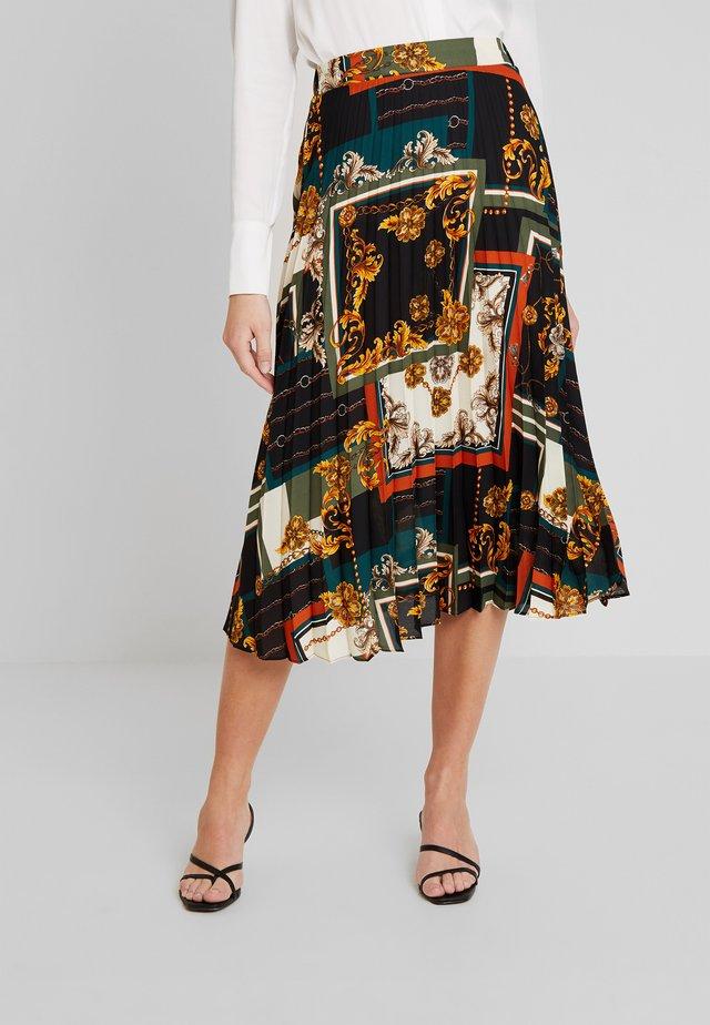 PLEATED - A-line skirt - multi