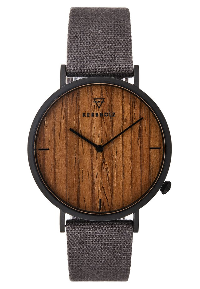 HENRI - Montre - black/walnut/grey