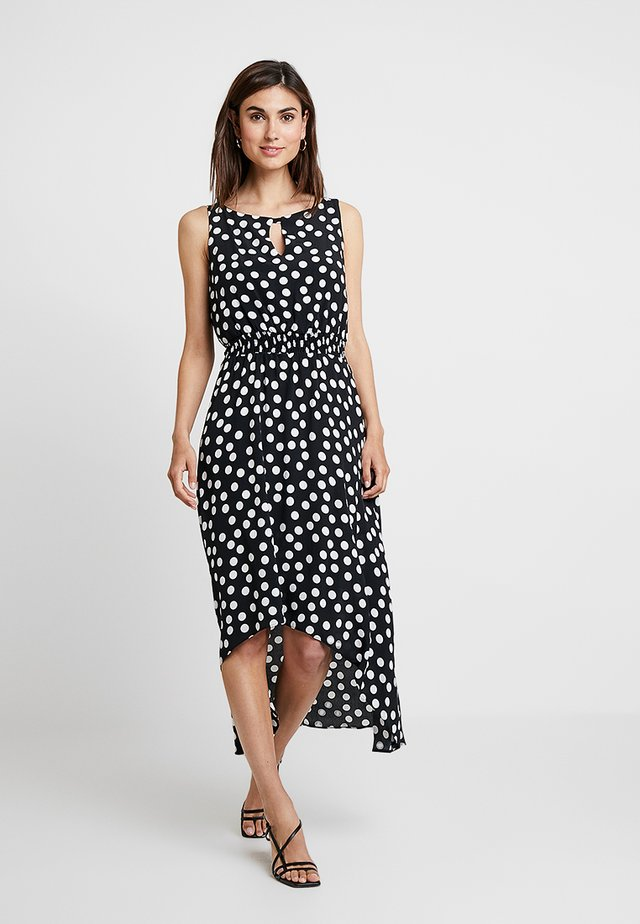 POLKA DOTS HIGH LOW - Vestito lungo - black