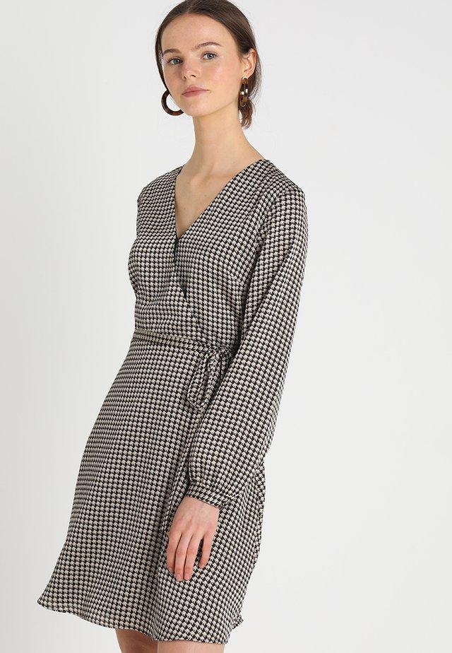 FAUX WRAP DRESS MARGARET ELEPHANT - Vestito estivo - black
