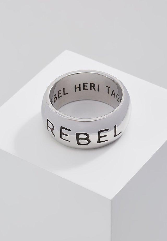 REBEL STAMP BAND - Pierścionek - silver-coloured