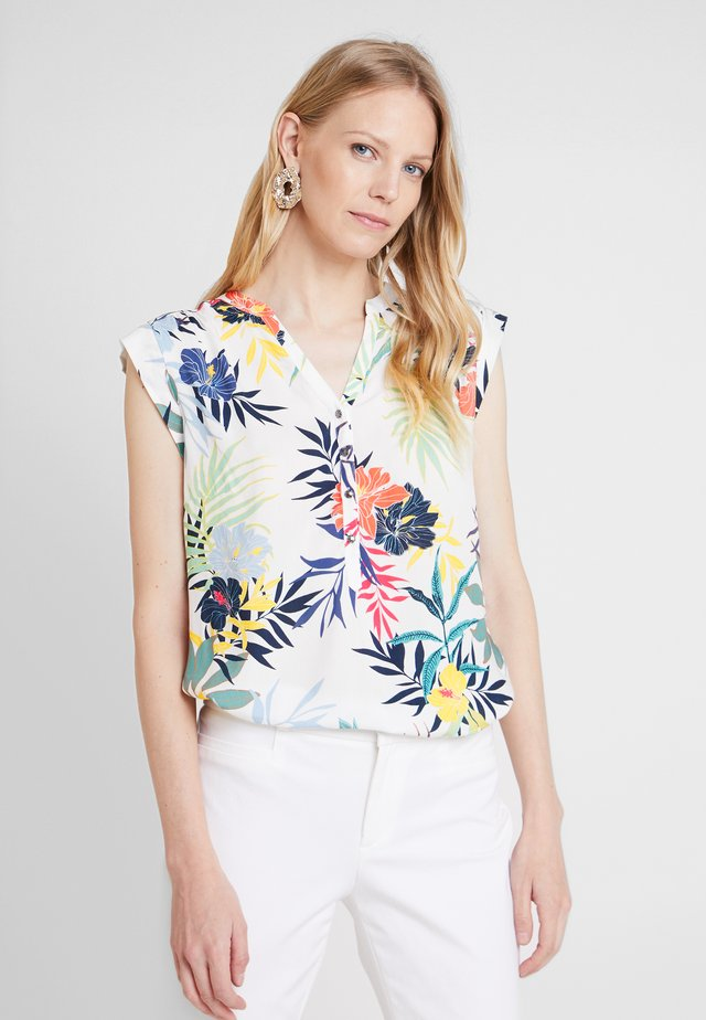 Blouse - white/blue