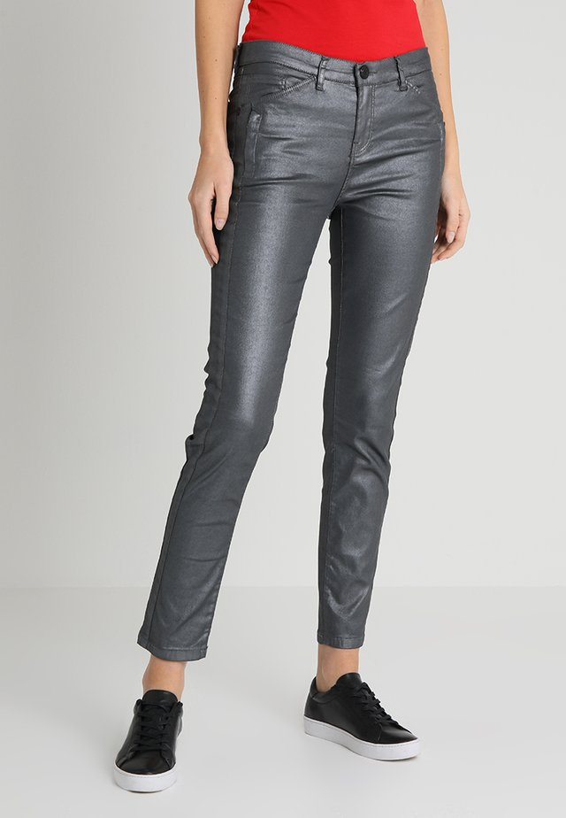 EMILY - Trousers - grey melange