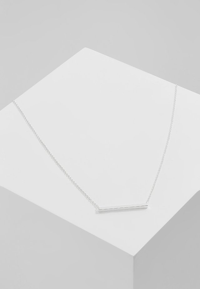 HORIZONTAL BAR SHORT - Ketting - silver-coloured