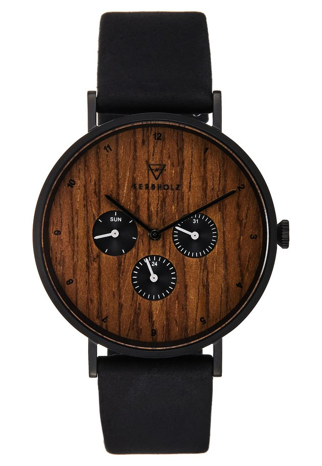 CASPAR - Chronograph - black/walnut