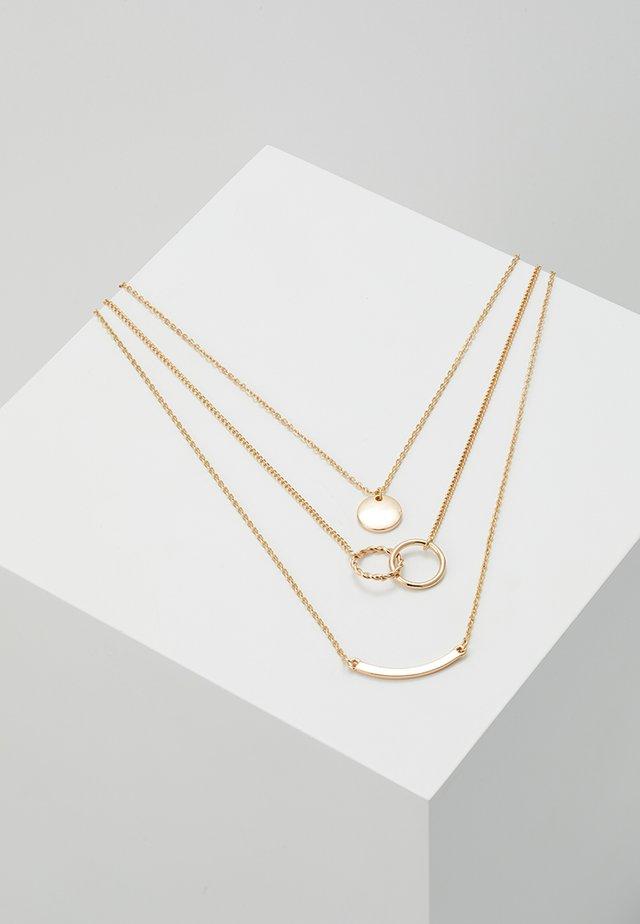 PCTINNA COMBI NECKLACE - Smykke - gold-coloured